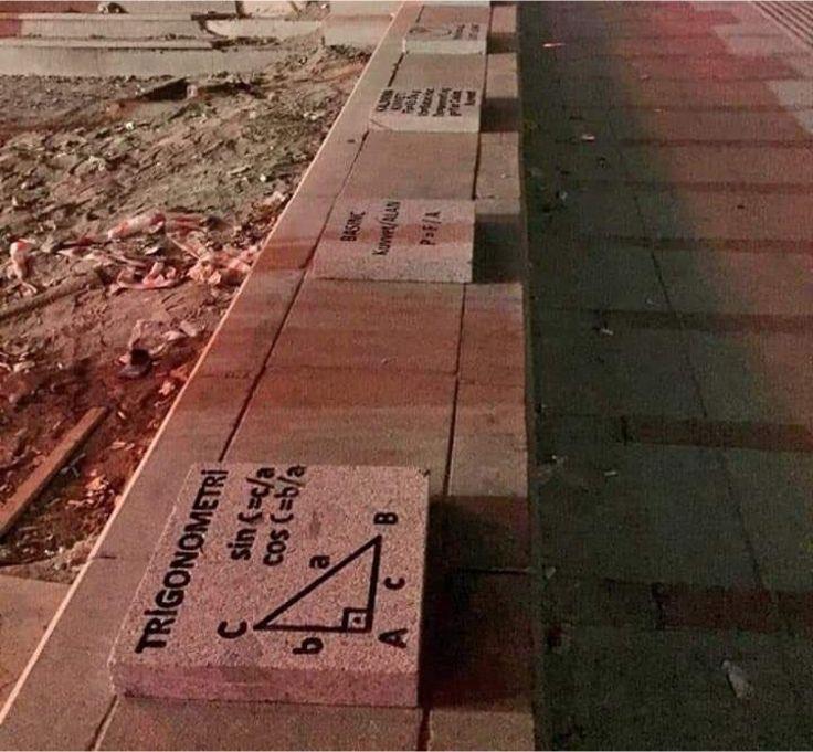 Geometrik şehir Ankara! Kaldırım taşlarına formüller yazıldı - Resim: 1