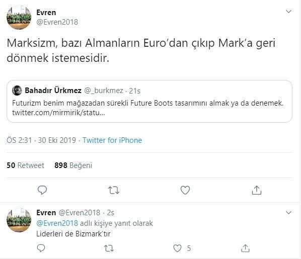 Twitter'da izm fırtınası: Marksizm bazı Almanların Euro'dan çıkıp Mark'a geri dönmek istemesidir - Resim: 1