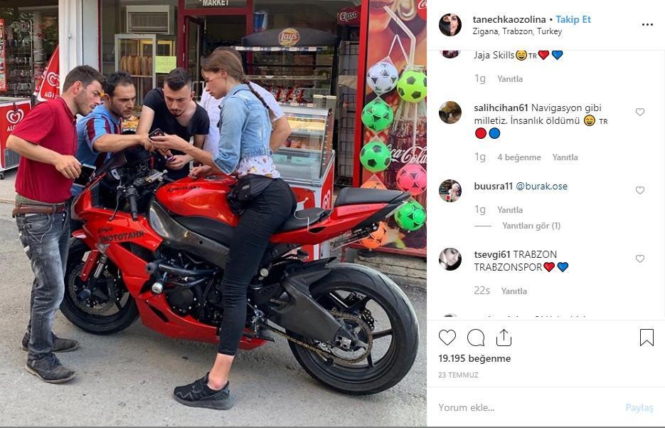 Rus fenomen Tanechka Ozolina Trabzon'da adres sorunca - Resim: 1