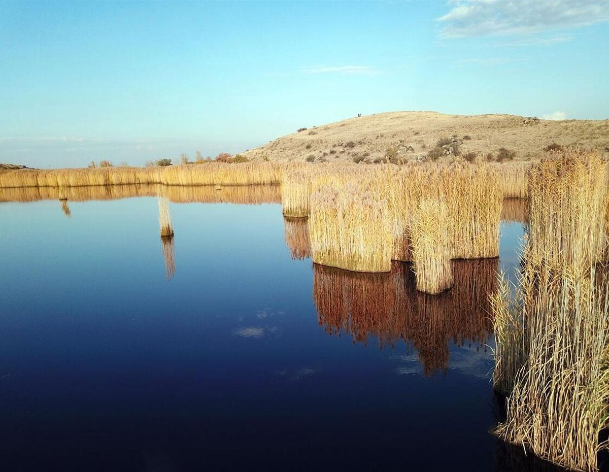 Köylüler harekete geçti! Iğdır'ın doğa harikası Üçkaya Gölü ziyarete açılacak - Resim: 3