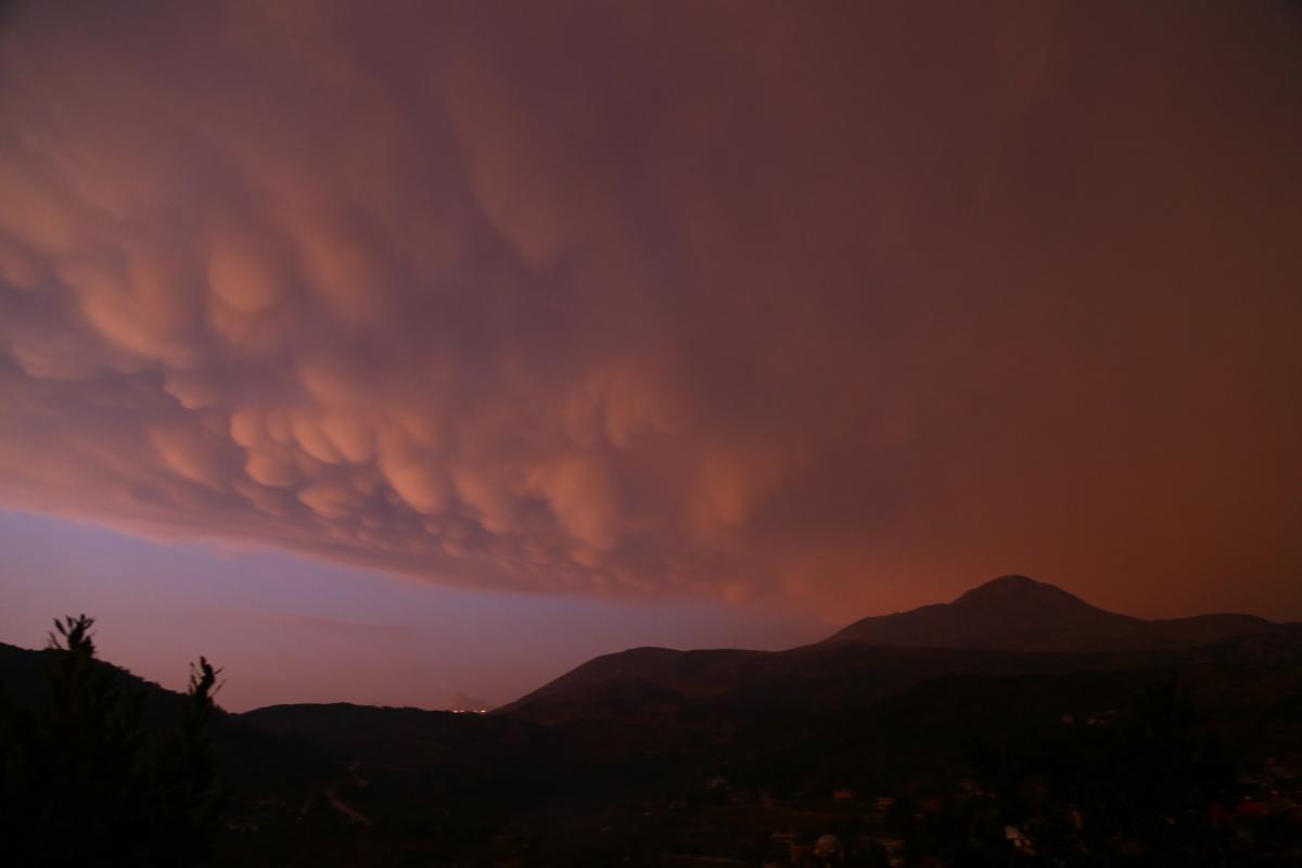 Türkiye'de ender görülen memeli bulutlar Hatay'da görüntülendi - Resim: 3