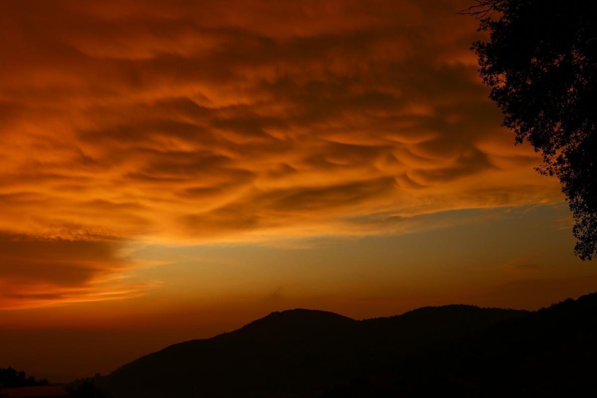 Türkiye'de ender görülen memeli bulutlar Hatay'da görüntülendi - Resim: 4