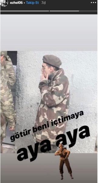 Ezhel asker oldu, kamuflajlı fotoğraflarını paylaştı - Resim: 1