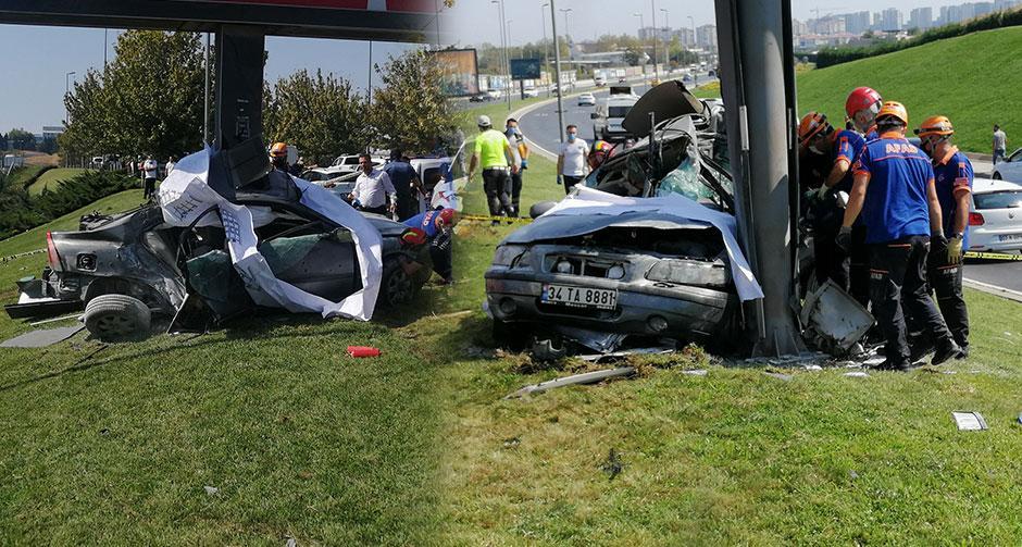İstanbul'da feci kaza! Sürücü hayatını kaybetti