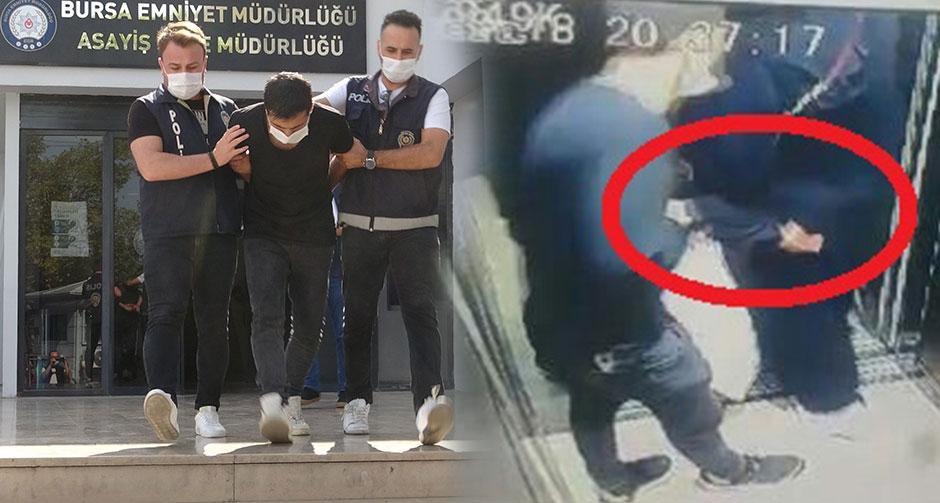 Asansördeki taciz şüphelisi yakalandı