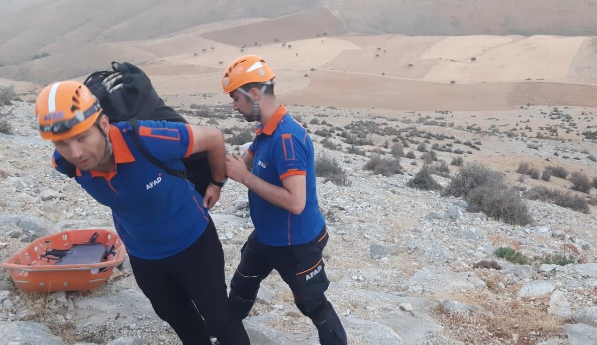 Tırmanış sırasında ayağı kırıldı! AFAD ekipleri kurtardı