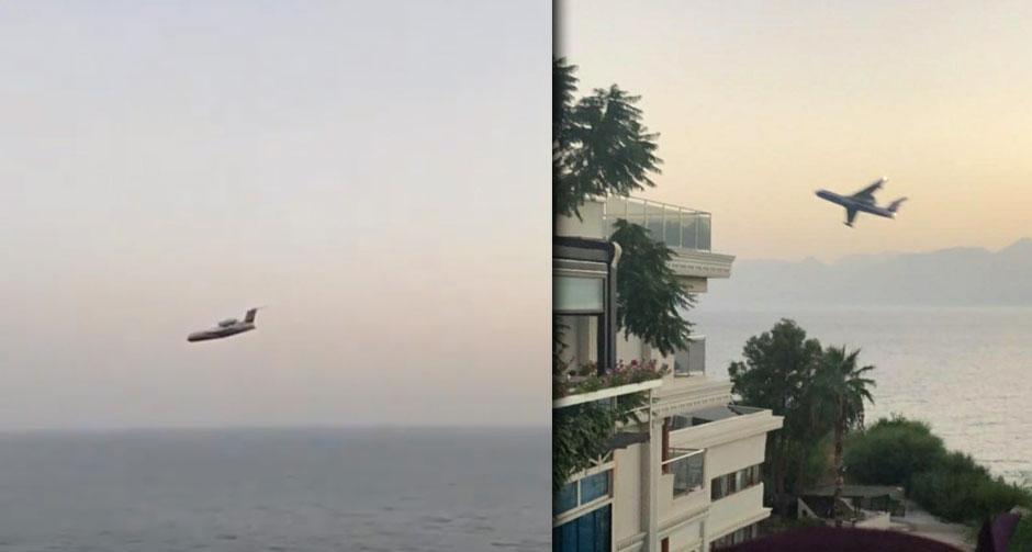 Antalya'da Rus pilottan tedirgin eden hareketler