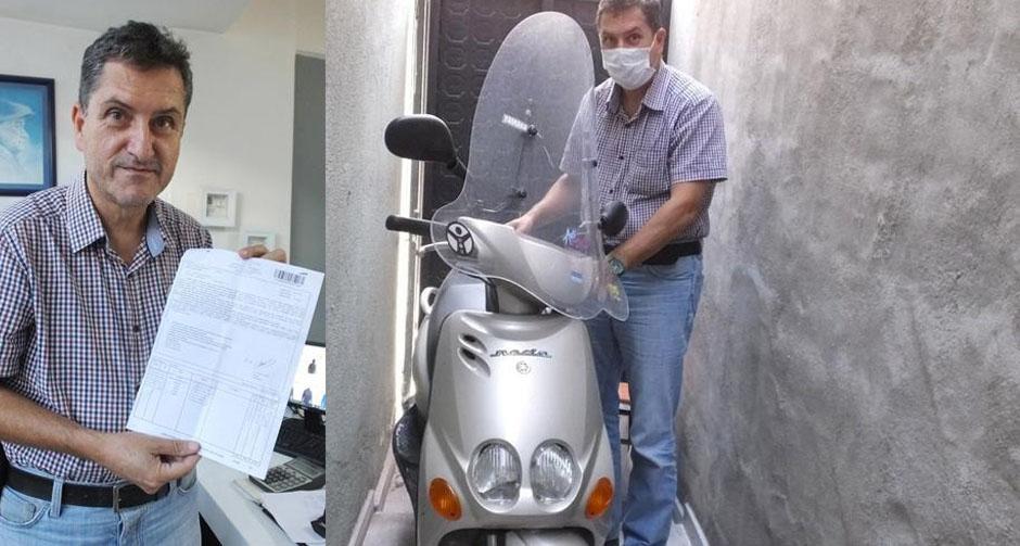 6 yıldır depoda duran motosiklete kesilen ceza, iptal edildi