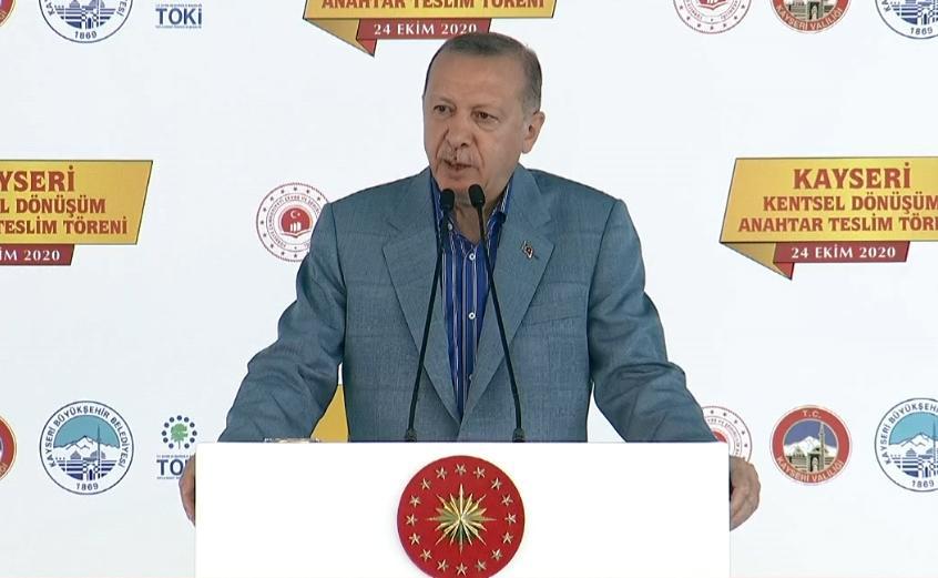 Cumhurbaşkanı Erdoğan: Gecekondular, depremlerde adeta tabuta dönüşüyordu