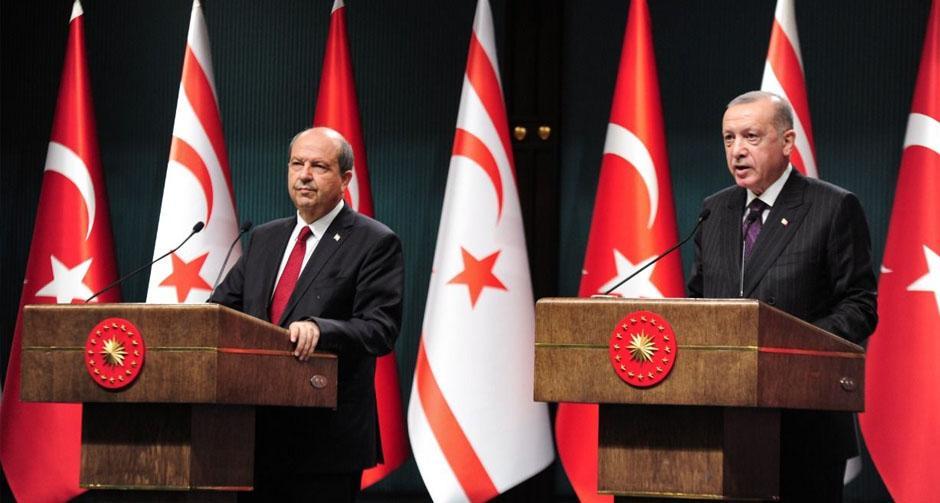 Cumhurbaşkanı Erdoğan ile  KKTC Cumhurbaşkanı Tatar'dan ortak açıklama