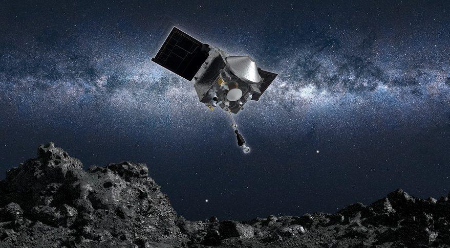 Asteroid Bennu'dan alınan numuneler uzaya saçıldı