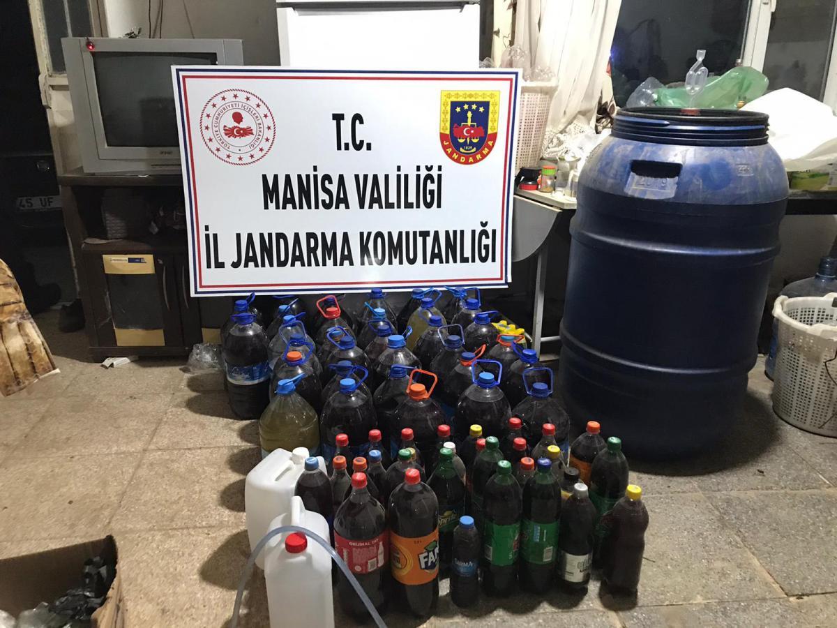 Manisa'da kaçak içki operasyonu!