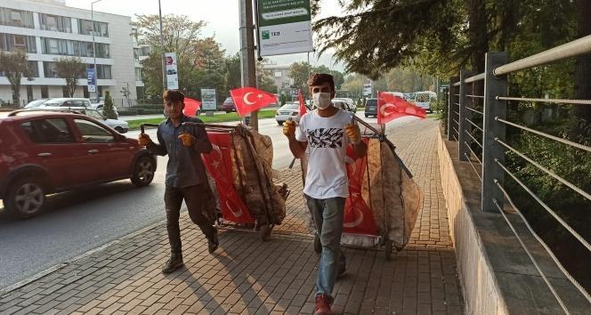 Cumhuriyet Bayramı'nın en anlamlı görüntüsü...