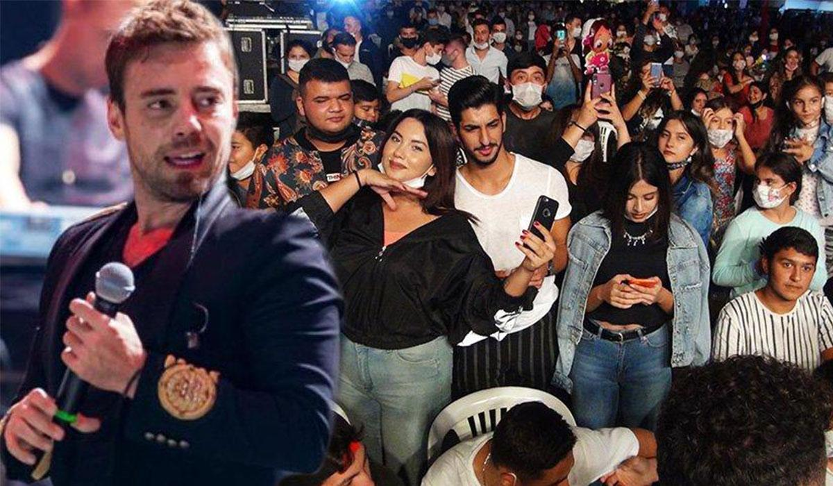 Murat Dalkılıç konserinde korovirüs unutuldu