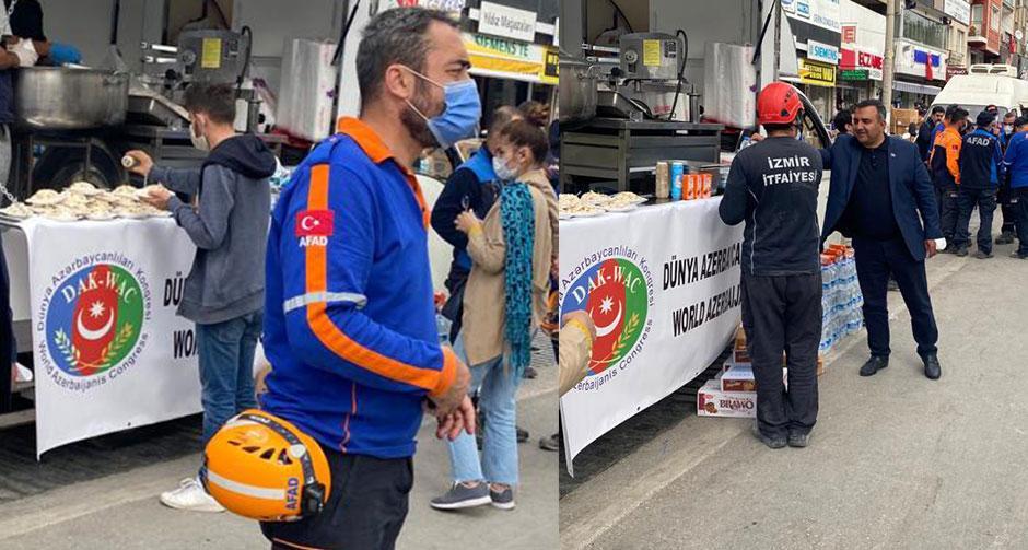 Dünya Azerbaycanlıları Kongresi'nden İzmir dayanışması