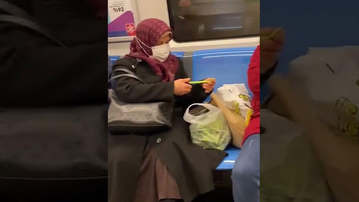 Metroda fasulye ayıklayan teyze o video için bakın ne dedi