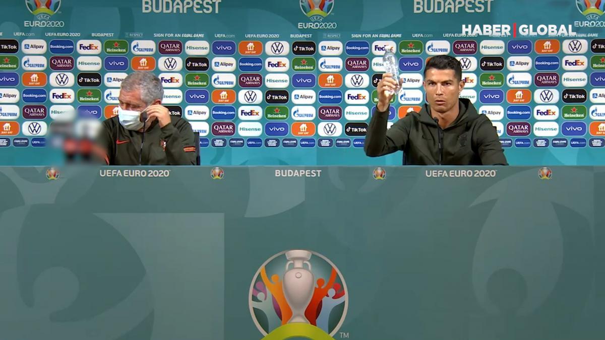 Ronaldo'dan şaşırtan 'Su için' mesajı