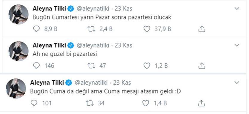 aleyna tilki tweet cumartesi pazar ile ilgili görsel sonucu