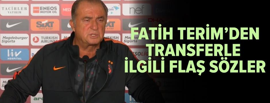 Fatih Terim'den flaş transfer açıklaması