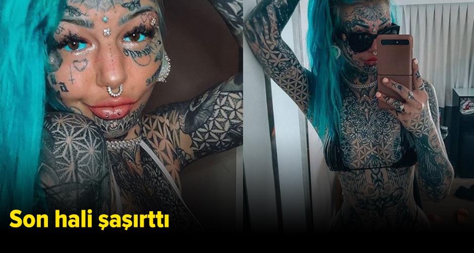Cinsel organına kadar dövme yaptırmıştı!