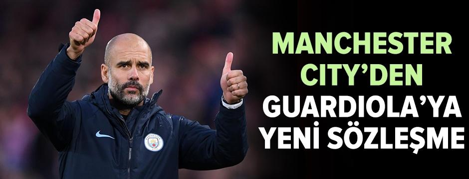 Manchester City'den Guardiola'ya yeni sözleşme