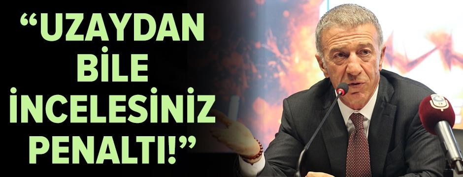 Ahmet Ağaoğlu'dan hakem tepkisi