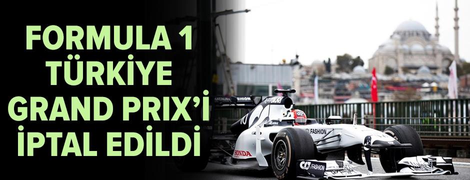 Türkiye Grand Prix, Formula 1 takviminden çıkarıldı!