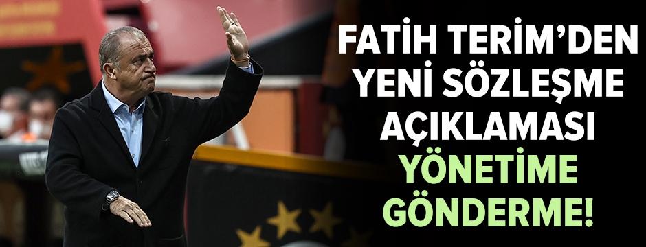 Fatih Terim'den sözleşme açıklaması
