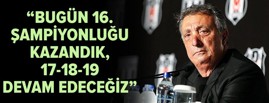 Ahmet Nur Çebi'den iddialı şampiyonluk açıklaması